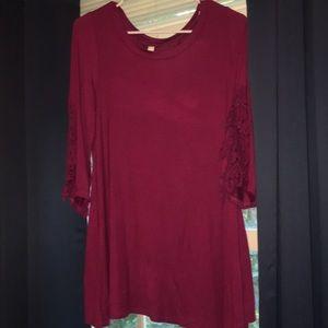Super flowy tee shirt dress